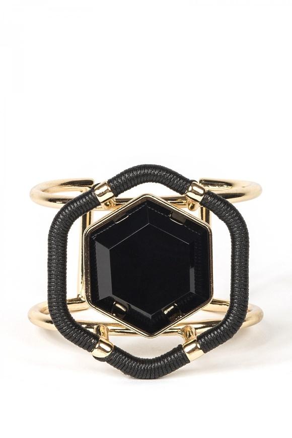 Złota bransoletka ze szklanymi kamieniami