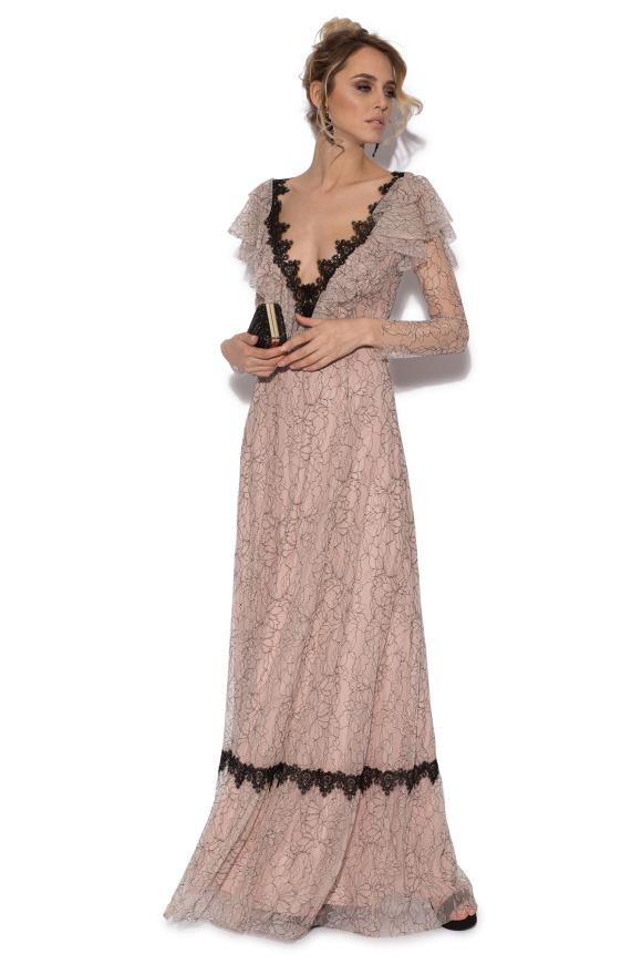 Długa koronkowa sukienka