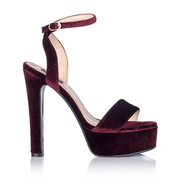 Aksamitne sandały
