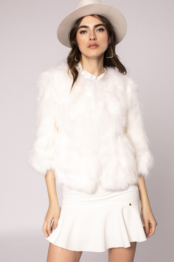 Natural fur jacket