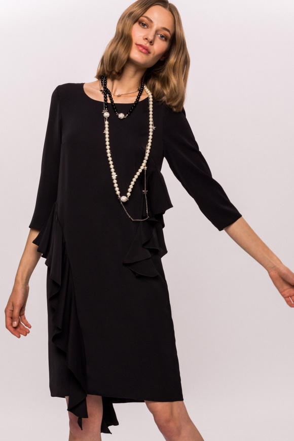 Luźna sukienka z falbankami