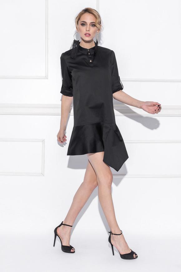 Koszulowa sukienka z falbanką