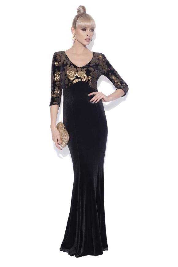 Velvet dress with sequin detail