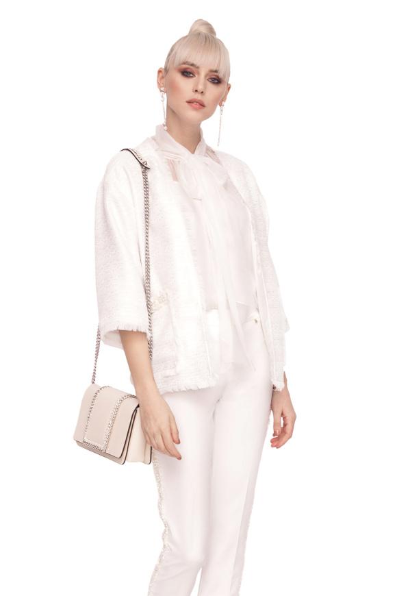 Elegancka kurtka z teksturowanej tkaniny