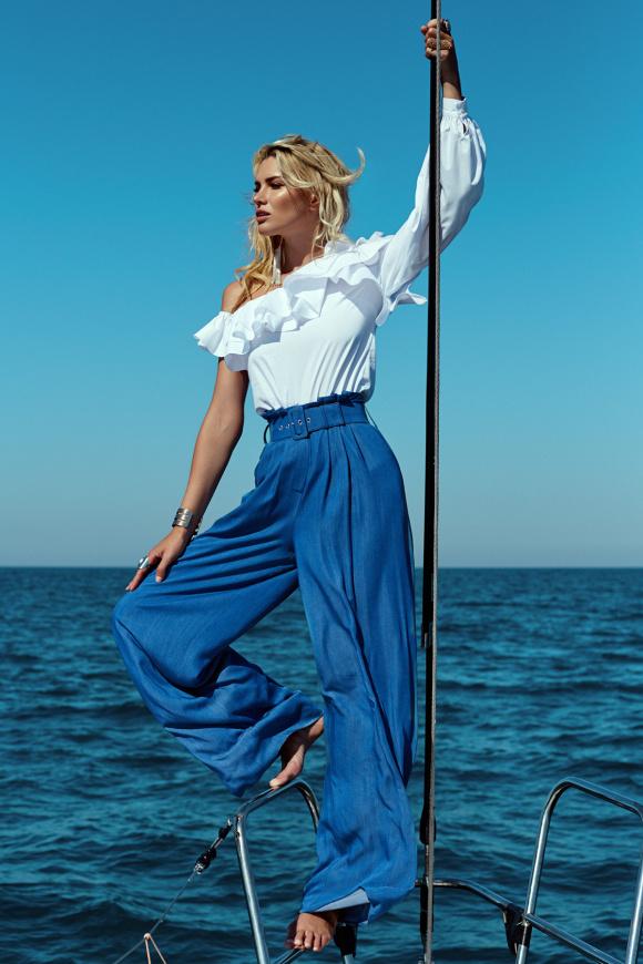 Szerokie spodnie jeansowe