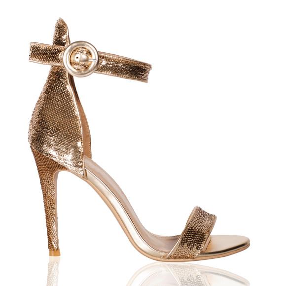 Eleganckie sandały z cekinami