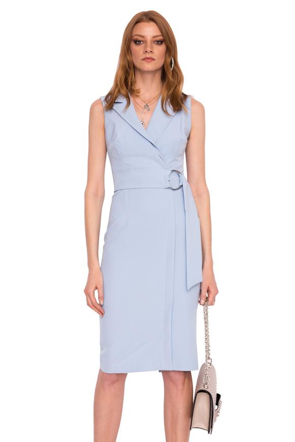 Marszczona sukienka z dekoltem V