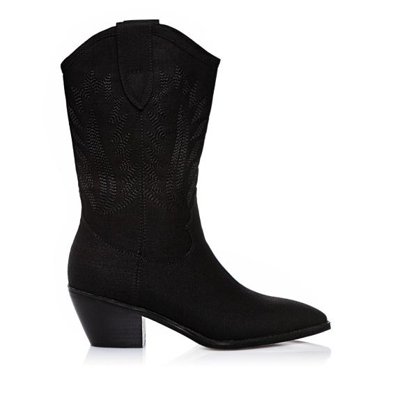 Denim western boots