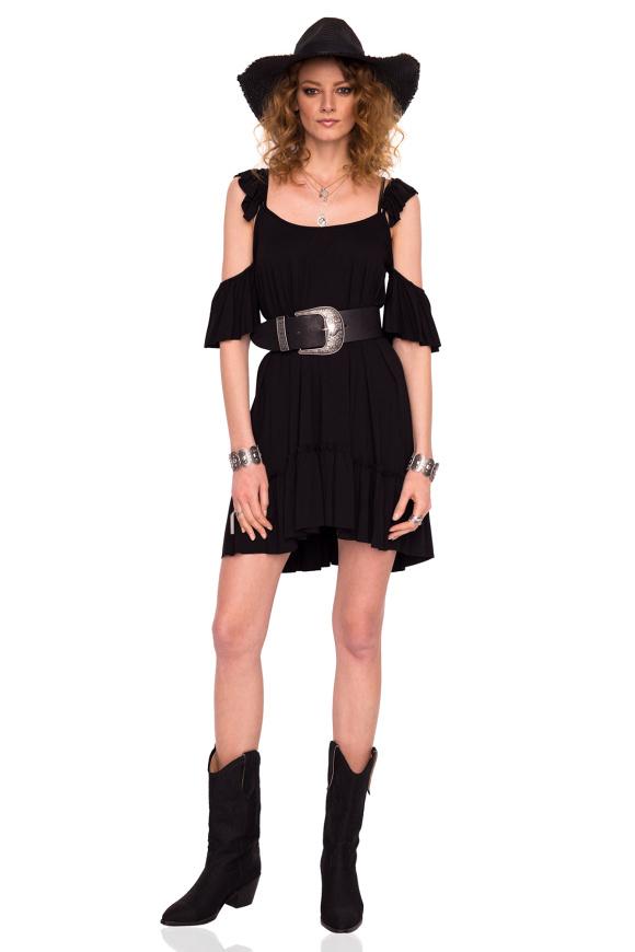Luźna sukienka bez ramion