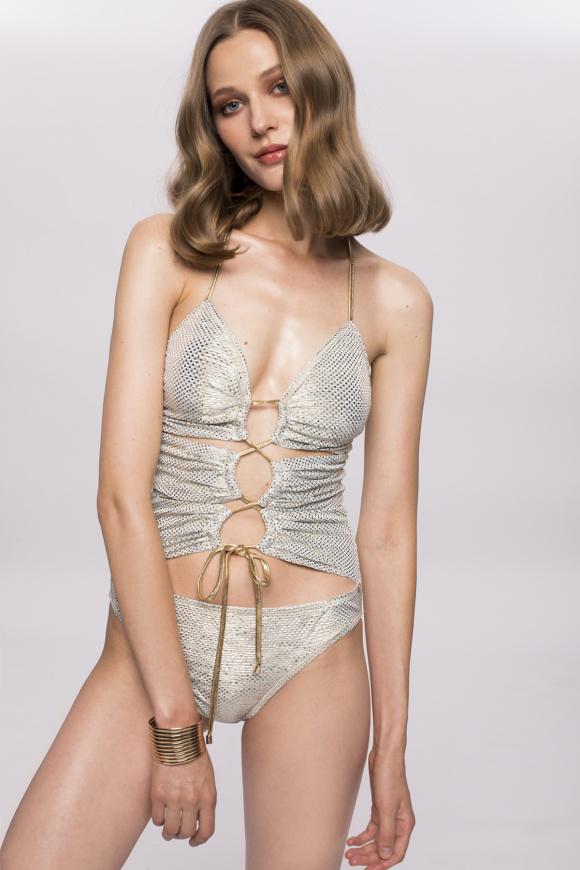 Kostium kąpielowy ze sznurkiem