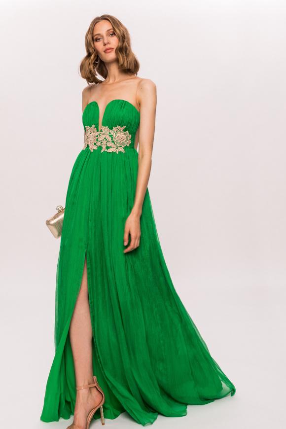 Sukienka maxi z detalem w talii