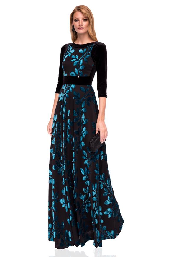 Elegancka sukienka maxi z kwiatowym nadrukiem