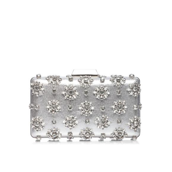 Srebrna kopertówka z kryształkami