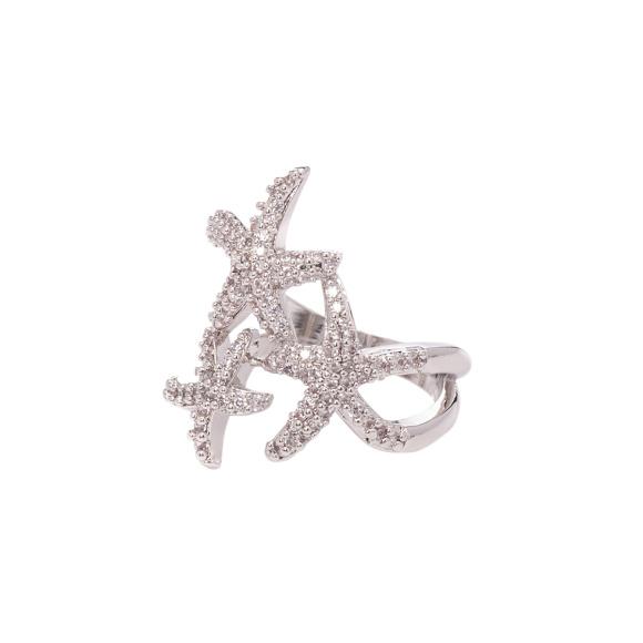Elegancki pierścionek z gwiazdami