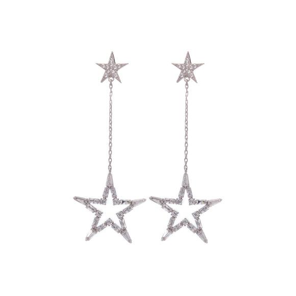 Kolczyki z gwiazdami i kryształami