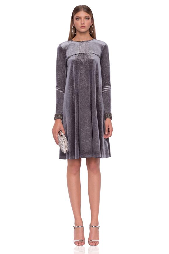 Luźna aksamitna sukienka