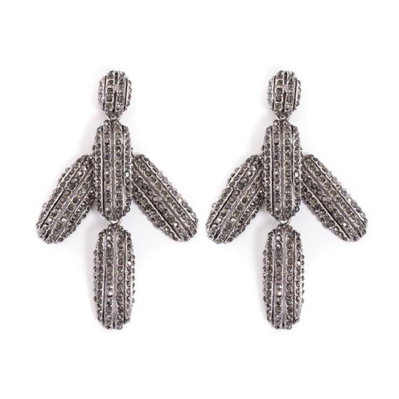 Kolczyki ze srebrnymi kryształkami
