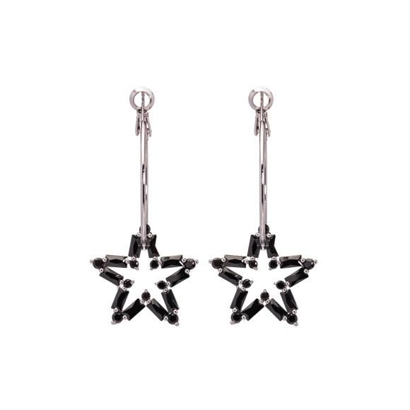 Cyrkoniowe kolczyki z gwiazdami