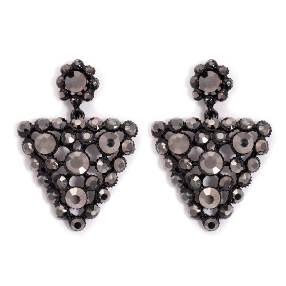 Geometryczne kolczyki z kryształami