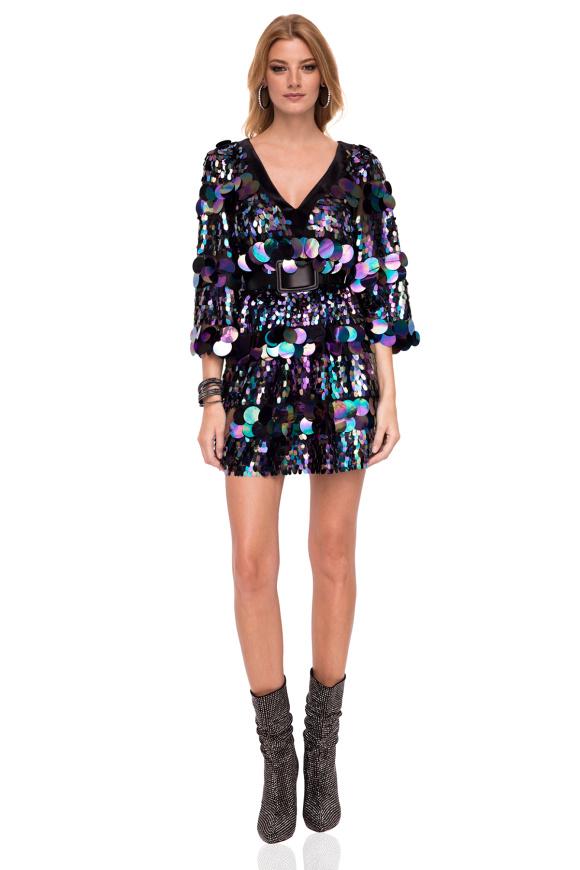 Mini sukienka z cekinami