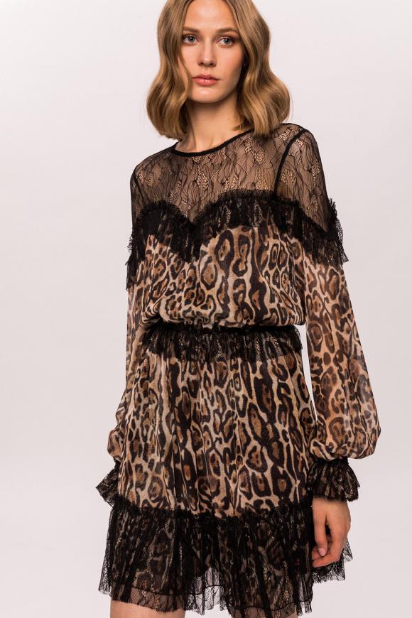 Sukienka w lamparcie cętki