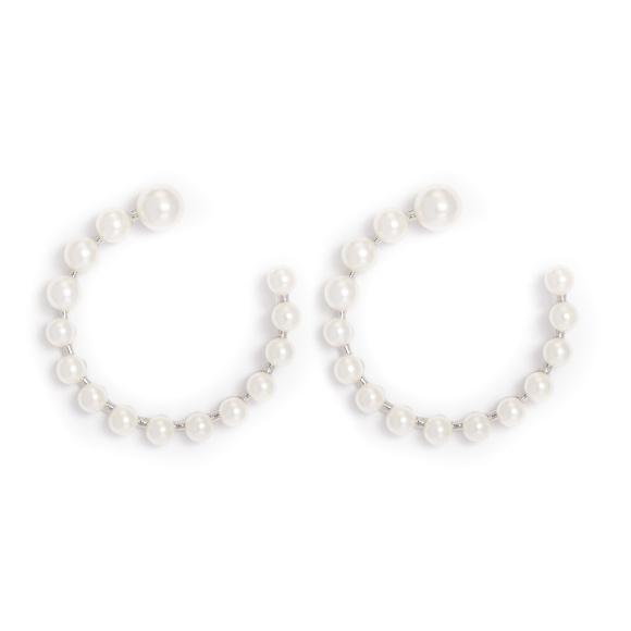 Okrągłe kolczyki z perłami