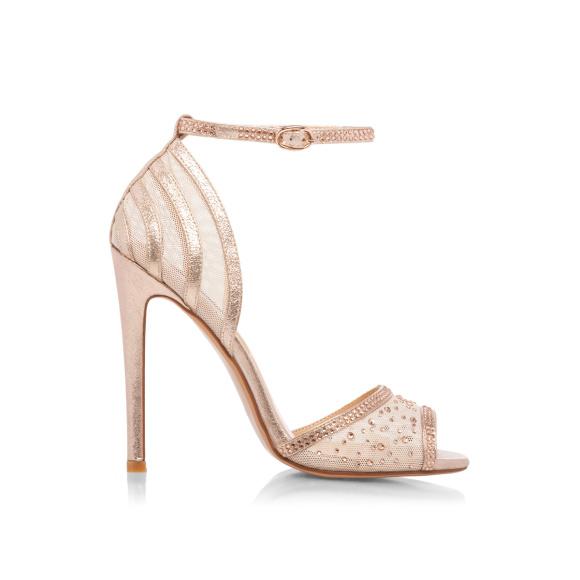 Cieliste sandały z paskiem