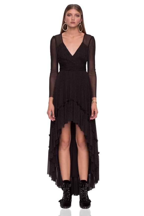Asymetryczna sukienka z metalicznymi detalami