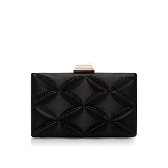 Elegant clutch with floral applications