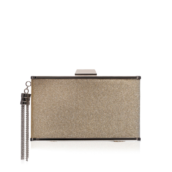 Clutch with metal accessory