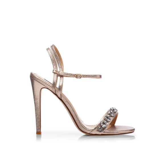 Crystal details sandals