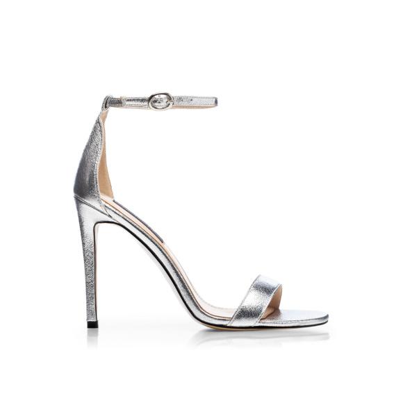Stylowe srebrne sandały