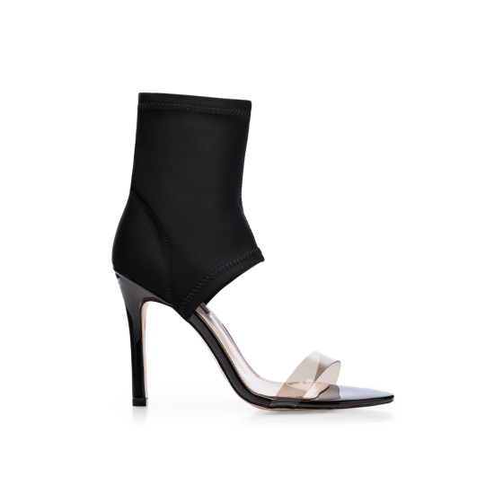 Sock style cut out detail sandals