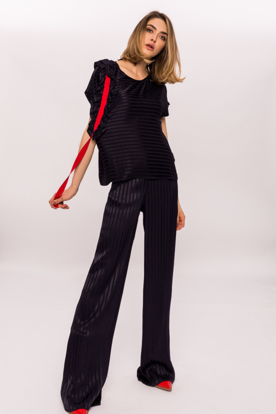 Viscose flared pants