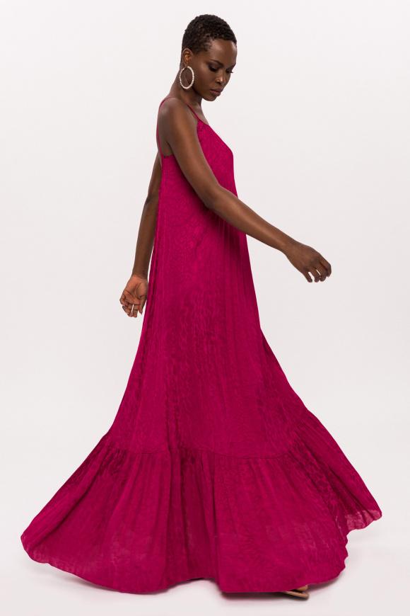 Sukienka maxi w lamparcie cętki