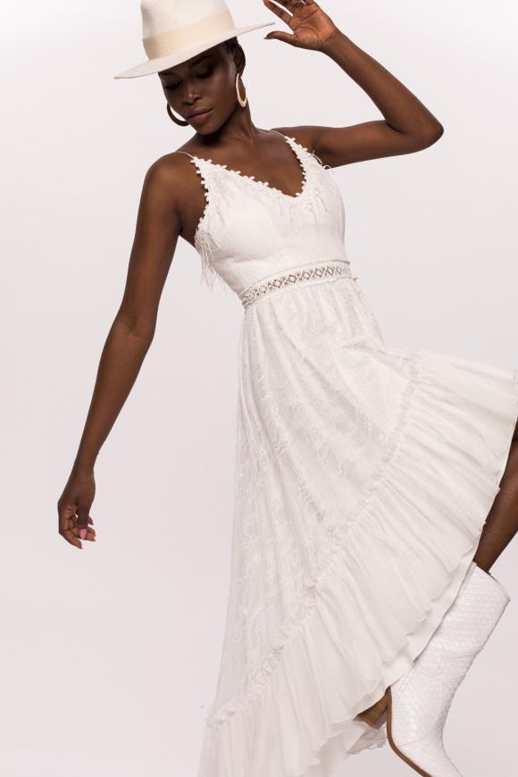 Sukienka z koronkowym haftem
