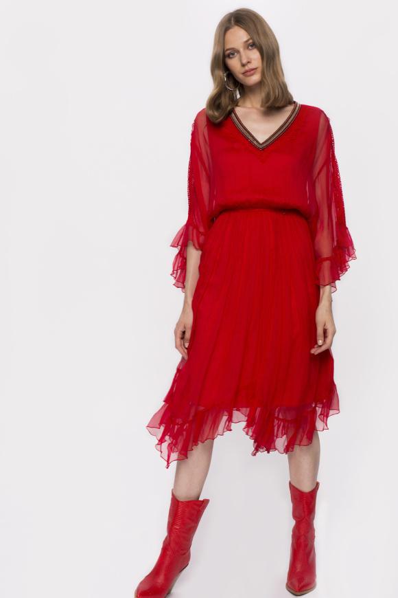 Asymetryczna jedwabna sukienka