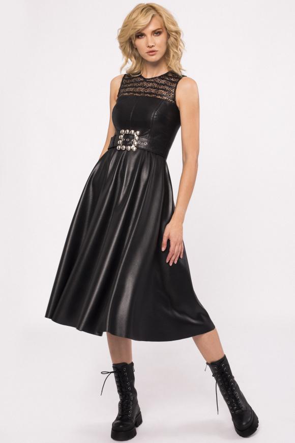 Sukienka koktajlowa z koronkowymi wstawkami