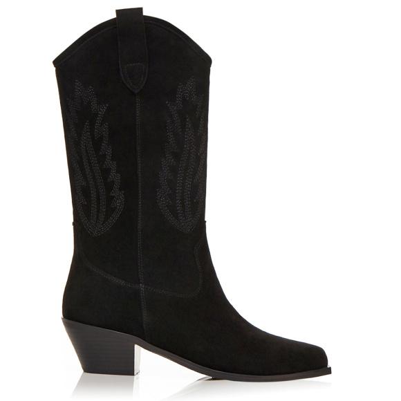 Western buty z naturalnej skóry