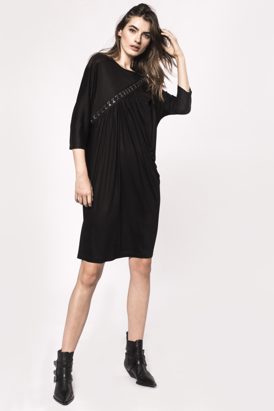 Hook and eye viscose dress