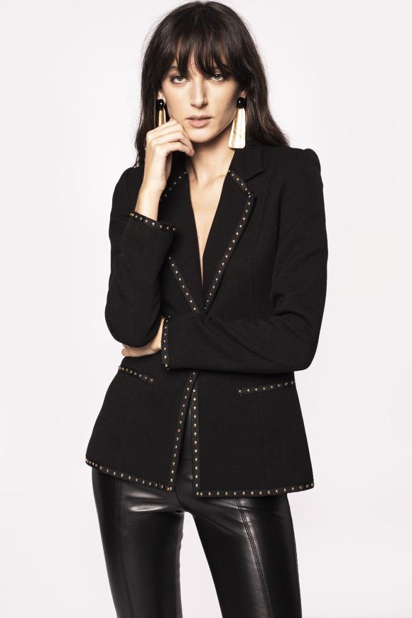 Metallic details suit jacket