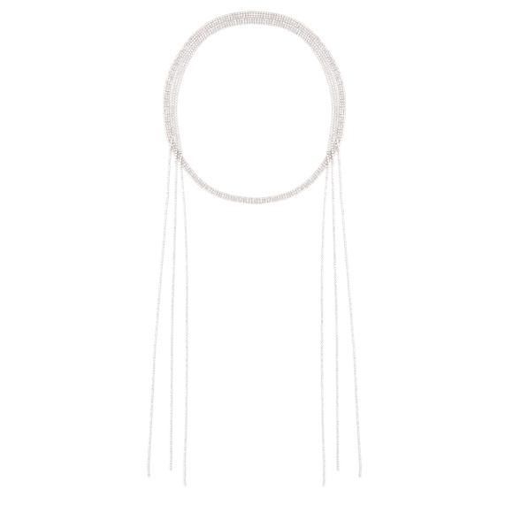 Wrap around crystal embellished necklace