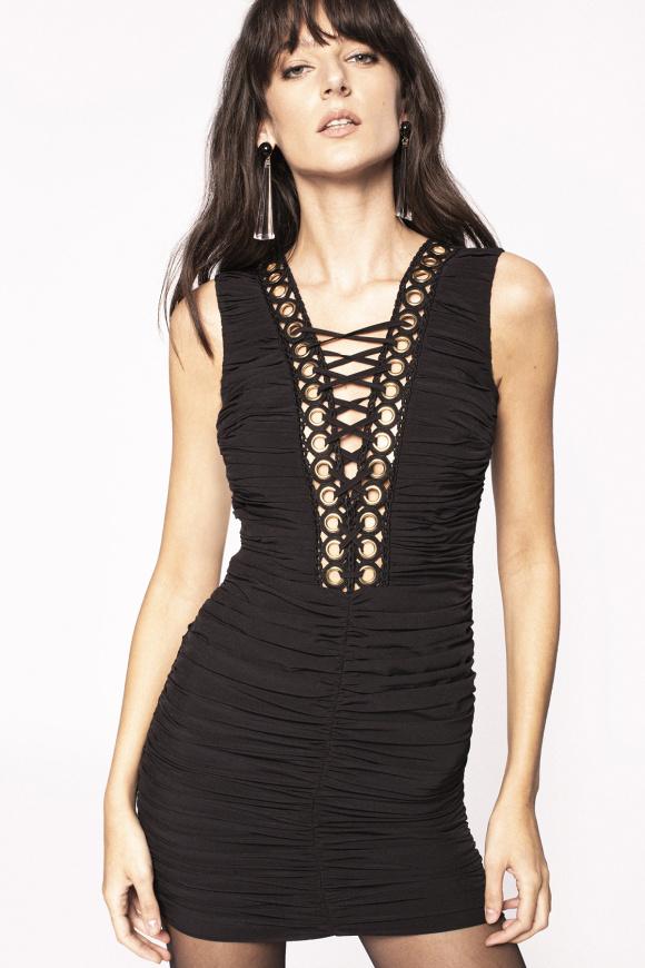 Metallic insert dress