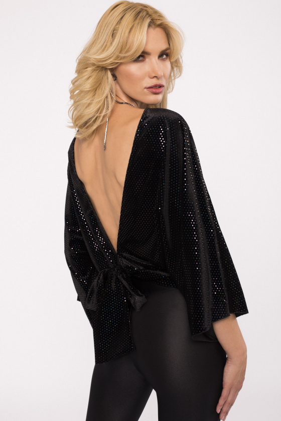 Shiny insert backless top