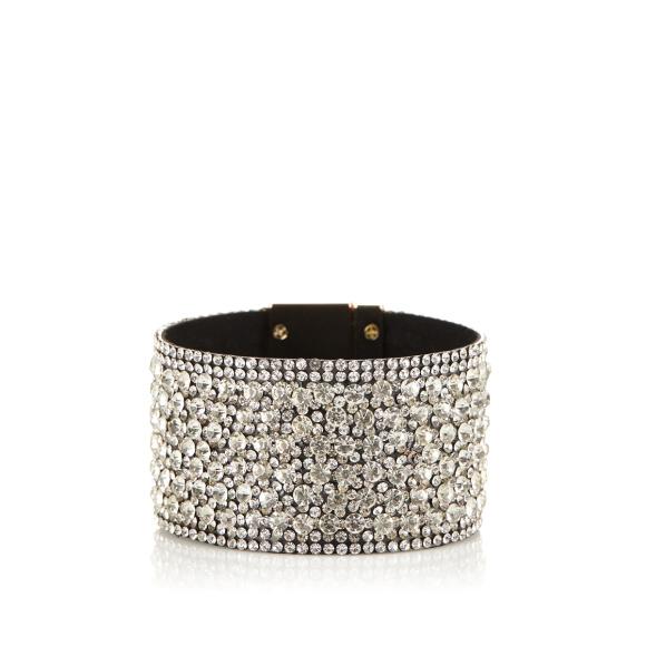 Metallic lock crystal bracelet