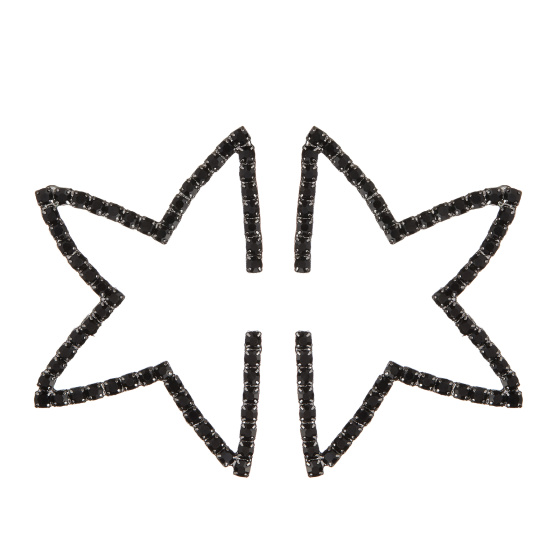 Crystal embellished cut out star earrings