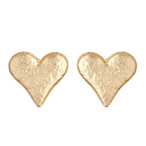 Heart shaped textured earrings