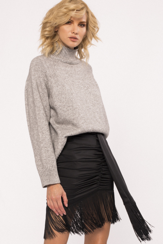Fringes skirt with waist detail