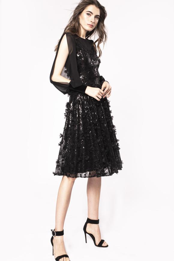 3D floral sequinned dress