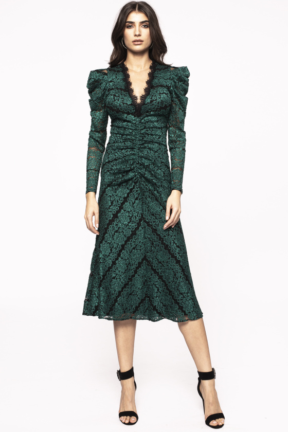 Shiny ruching dress